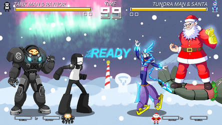 Random Fighting Game Christmas Mockup by ScepterDPinoy