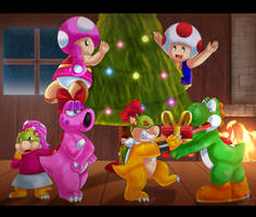 Christmas with the squad .:collab.: by HG-The-Hamster
