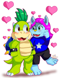 Art Trade Angeline X Bario by HG-The-Hamster