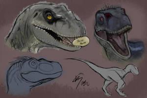 Jurassic park 3 - Raptor study by ChaptorCho