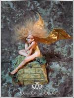 Golden Age Angel #87 OOAK Sculpture Art Doll by bornbrightdolls