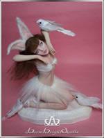 Snow Bunny #88 OOAK Sculpture Art Doll by bornbrightdolls