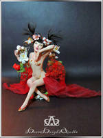 Seductive Geisha #105 OOAK Sculpture by bornbrightdolls