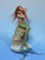 Ariel Mermaid OOAK Sculpture by bornbrightdolls