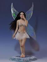 Violentra Fairy OOAK Sculpture by bornbrightdolls