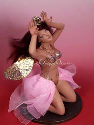 Pea Pearl Princess Fairy OOAK Sculpture by bornbrightdolls