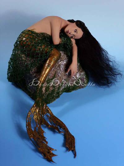 Valkiria-Post Apocalyptic Mermaid OOAK Sculpture by bornbrightdolls