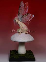 Crissy-Magic Mushroom Fairy OOAK Sculpture by bornbrightdolls