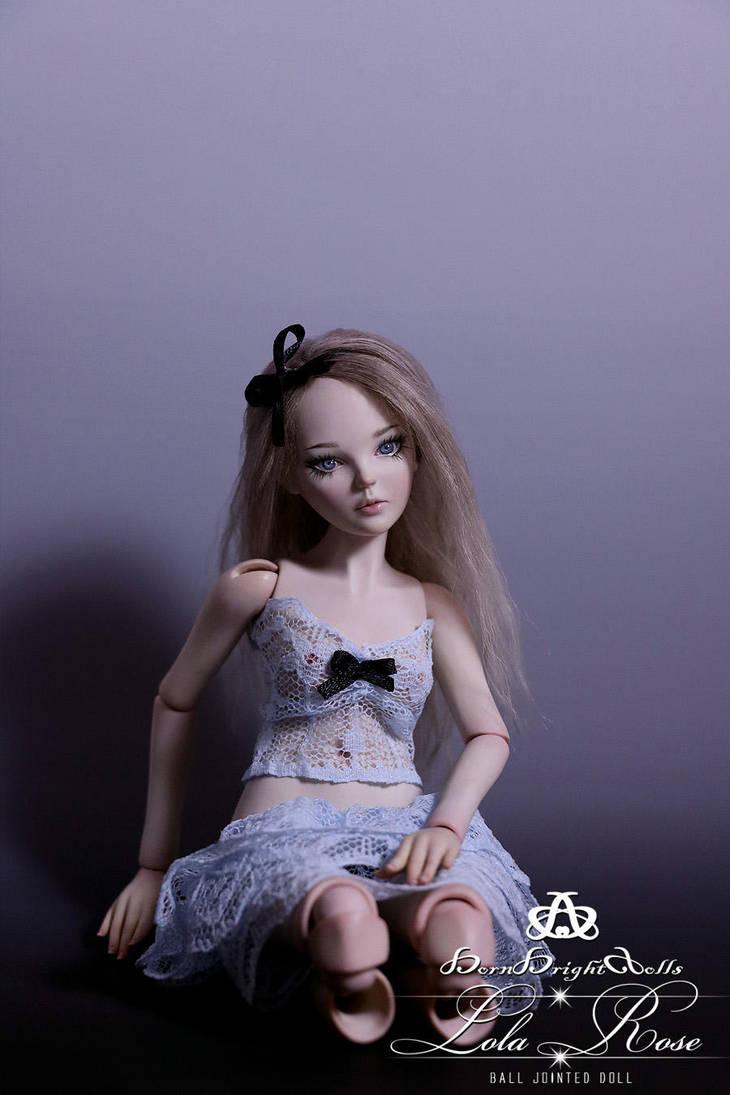 Lola Rose BJD Doll Mini Ball Jointed by bornbrightdolls