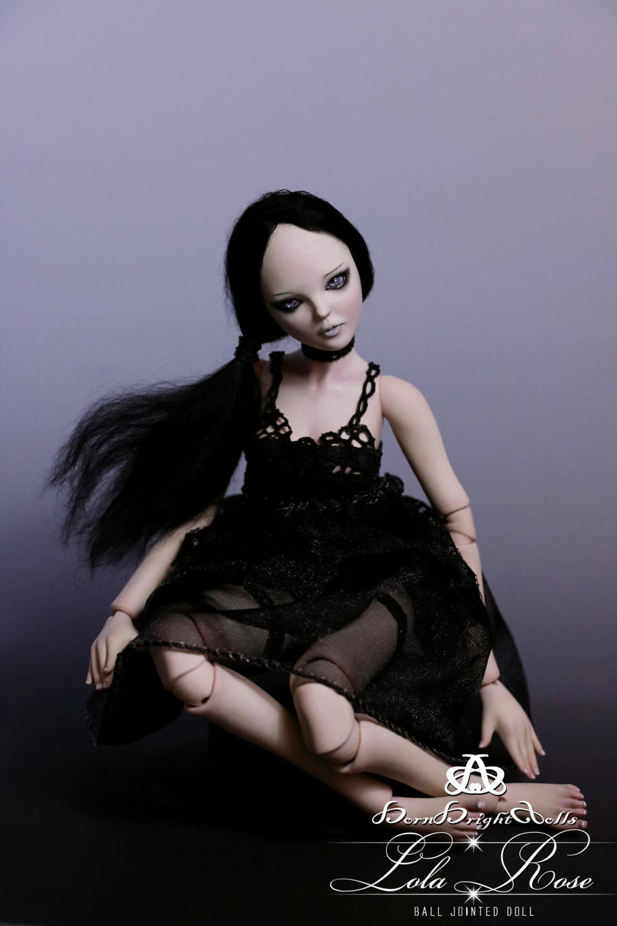 Lola Rose BJD Doll Handmade (Goth Pinup) by bornbrightdolls