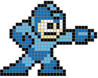 8 Bit Megaman Colored Grid by TheInsanePoet