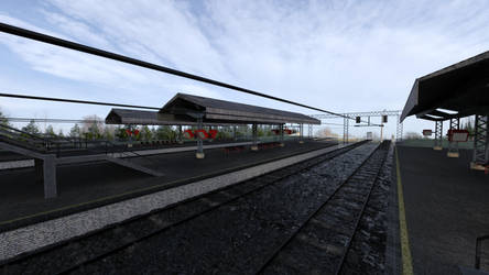 Free Train Station for you! by Serum3D