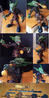 Nibliam Nimley Goblin pose able art doll by Chaosthered