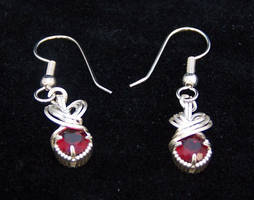 Lab Ruby Earrings by CrafterGod