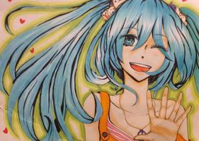 Hatsune Miku by cendrillionn