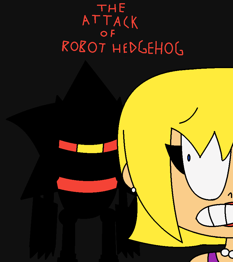 The Attack Of Robot Hedgehog Horror Movie Poster By Mrcarlos10000x