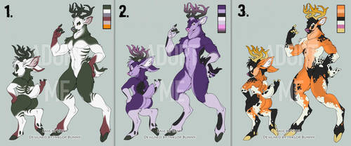 Halloween Stag adoptables 2/3 OPEN by InklopBunny