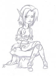 Ly the Fairy, a bit pissed off by Shad0wH3artl3ss