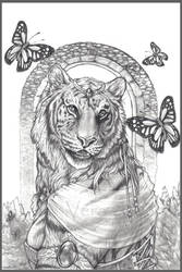 Tigress and Monarch by Blattaphile