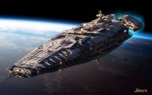 Battlecruiser, low earth orbit by jgranite