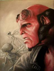 Hellboy by EliSand