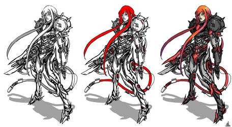 Samus Aran evil version by iononemillion
