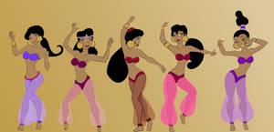 COM Aladdin Harem girls by TigersSunshyn