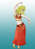 Clover as a harem dancer by TigersSunshyn