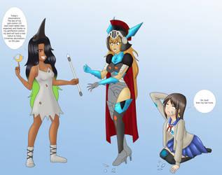 COM Amber, Ashton and the dragoon girl by TigersSunshyn