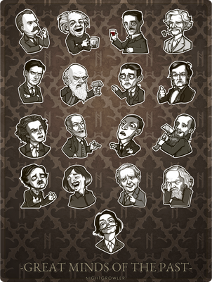 Great Minds of the Past by nightgrowler