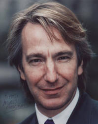 Signed photo by Alan Rickman 5 by JanuaryGuest