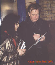 Alan Rickman and me 2 by JanuaryGuest
