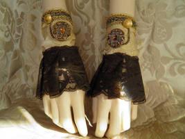 Steampunk-Victorian cuffs PCCC16 by JanuaryGuest