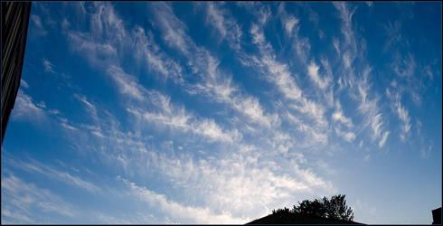 Feathery Cloud Panorama by fuddyduddy