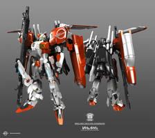 Ex-S Gundam standard pose by Jaychan1