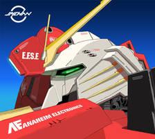 Ex-S Gundam head by Jaychan1