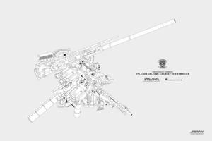 Ex-S Gundam DeepStriker mode Lineart by Jaychan1