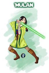 Jedi Disney Princess Mulan by White-Magician
