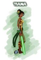 Jedi Disney Princess Tiana by White-Magician