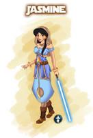 Jedi Disney Princess Jasmine by White-Magician
