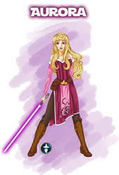 Jedi Disney Princess Aurora by White-Magician