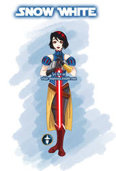 Jedi Disney Princess Snow White by White-Magician