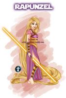 Disney Jedi Princess Rapunzel by White-Magician