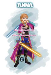 Jedi Disney Princess Anna by White-Magician
