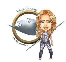 Chibi White Canary [LEGENDS OF TOMORROW] by White-Magician