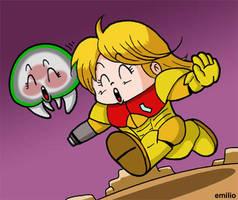 Dr. Metroid Samus chan by emiliosan