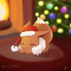 Christmas Eevee by emiliosan