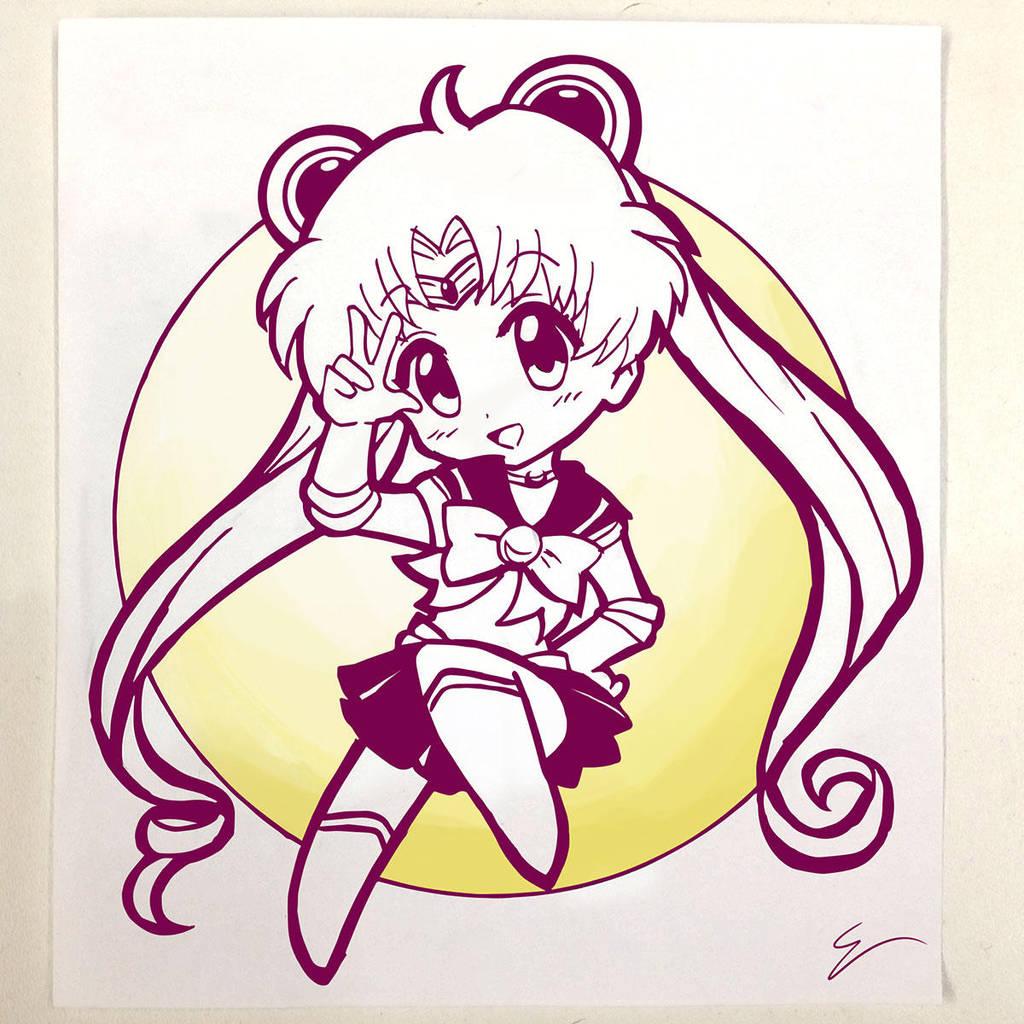 Chibi Sailor Moon by emiliosan