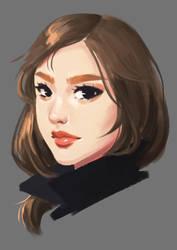 Girl Portrait Study by orangepiano