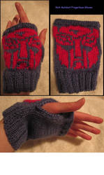 Knit Autobot Fingerless Gloves by Draange